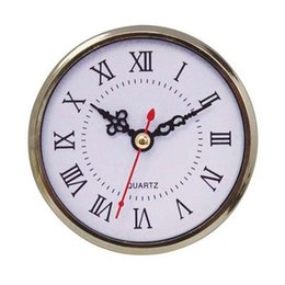 Chinese  90mm Mini Insert Clock Watch Japanese PC12888 Quartz Movement gold Plasatic Fit UP Clock Insert Roman Numerals Clocks Accessories manufacturers