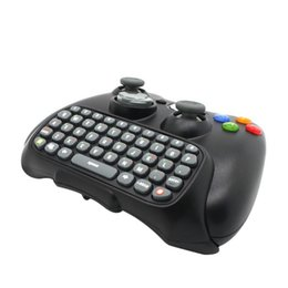 XboX controller wireless black online shopping - Black Wireless Messenger Chatpad Keyboard Keypad Text Pad for Xbox Xbox360 Controller happy time