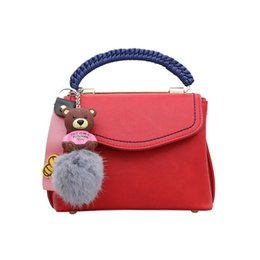 c4436898df Newest Handbags Women Luxury Bag Female PU Leather Bear Ornaments Fashion  Designer Shoulder Bag Leisure Messenger Bags Popular Handbag
