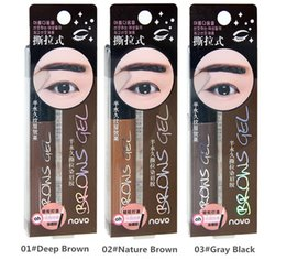 Sourcils Font Un Stylo Pas Cher-Eye Brow Tattoo Tint Imperméable Long-durable Peel Off Dye Eye Cream Gel Cream Mascara Maquillage Pen Korean Cosmetics NOVO Eye Maquillage