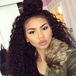 $enCountryForm.capitalKeyWord Australia - Mongolian Kinky Curly Lace Front Human Hair Wigs Glueless Afro Kinky Curly Lace Wig For Black Women Afro Curly Full Lace Wig