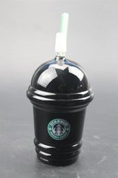 sandblasted starbucks cup bong NZ - 2019 Starbucks Cup glass bongs sandblasted glass pipes for smoking oil rigs glass water bongs and nail hookah free shipping
