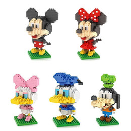 loz diamond block mickey mouse donald duck micky minny goofy toys parent child games building blocks childrens educational toys - Mickey Mouse Online Games For Toddlers