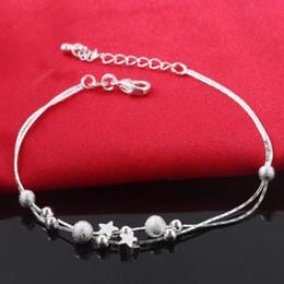 Discount love heart friendship bracelet - New Luxury 925 Silver Women Chain & Link Bracelets Charm Pendent Top Sale Friendship Bracelet Bangles Free Shipping