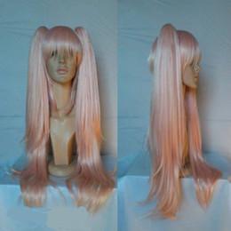 Discount junko enoshima cosplay - Super Danganronpa 2 Junko Enoshima 70cm Long Pink Ponytails High Quality Girl Cosplay Costume Wig ePacket Free Shipping