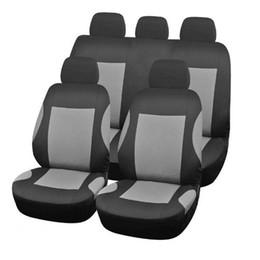 9pcs / set Cubiertas de asiento de automóvil para coche SUV Truck Van - Conjunto de cubrimiento trasero de banco delantero, coche universal Fit
