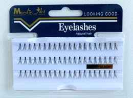 flare false eyelashes NZ - False Eyelashes Natural Hair Individual Lashes Extensions Permanent Eye Makeup Long Stay Fake Eyelash Flare Black Reusable Lash 10mm 13mm