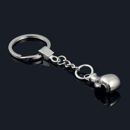 $enCountryForm.capitalKeyWord Canada - New Boxing Glove key chain Cool metal Keychain Car Key Ring Bag pendant key Holder Best Christmas Gift for man
