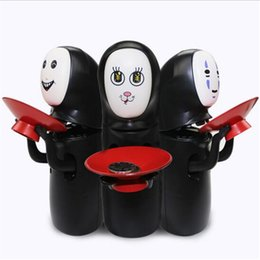 Miyazaki spirited away online shopping - Piggy Banks Toy Novelty Item Miyazaki Hayao Spirited Away No Face Money Cans Electric Music Automatic Coins Collection Funny Toys for Kid