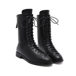 Flat Bottom Work Boots UK - 2017 autumn and winter new trend women flat  bottom short 2e682a93e1