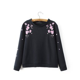 $enCountryForm.capitalKeyWord UK - Wholesale- women cute sweet floral embroidery loose sweatshirts long sleeve O-neck pullover ladies casual streetwear tops SW1024