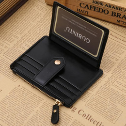 Color Coin NZ - Men Genuine Pu Lether Short Card Wallet Coin Pocket Card Holder Black Coffee Red Color With Clip R008