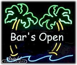 "neon open sign white Australia - Hot Bar's OPEN Palms Neon Sign Commercial Custom Real Glass Tube Beer Bar KTV Club Pub Store Advertising Display Neon Signs 24""X24"""