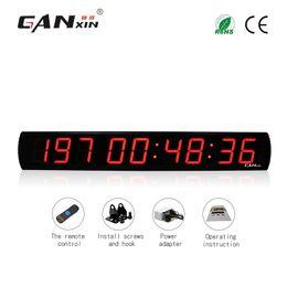 8315bccad [GANXIN] 4 pulgadas 9 dígitos Pantalla LED de interior grande Calendario  digital Día Evento Cuenta atrás con 999 días Reloj temporizador de pared  con ...