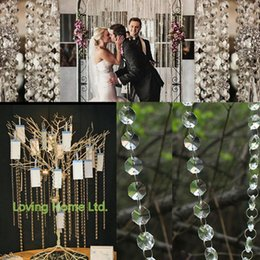 $enCountryForm.capitalKeyWord NZ - 2018 Special Offer Sale Wedding 0.7-0.9m Napkin Rings Placemat Tissue Box 3.3ft 1meter Crystal Clear Acrylic Bead Garland Chandelier Hanging