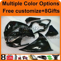$enCountryForm.capitalKeyWord Canada - 23colors+8Gifts BLACK panels motorcycle cowl for Yamaha YZF-R1 09 10 11 YZFR1 2009 2010 2011 ABS Plastic bodywork Fairing