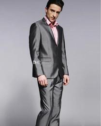 Shiny Light Grey Suit Wedding Online | Shiny Light Grey Suit ...