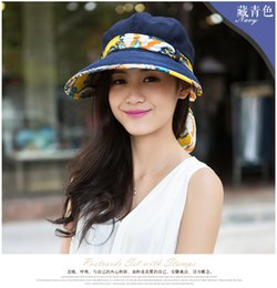 Wide Brim Navy Hat Canada - Graceful navy blue hats outdoor traveling spring summer autumn sun protection women fashion cool novelty hats and caps