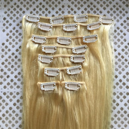 "$enCountryForm.capitalKeyWord NZ - 100% Indian Remy Human hair 14""-26"" Clips in on Human Hair Extension 8pcs set Full Head 100g 120g"