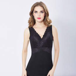 $enCountryForm.capitalKeyWord Australia - Wholesales Winter Women Thermal Underwear Warm Thick Fleece Shapewear Sexy V neck Lace Bra Women Soft Velvet Tank Cotton Soft Bra Top