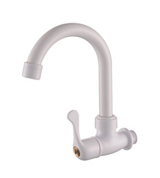 Contemporary White Kitchens NZ - Sanitary Products Kitchen Into The Wall Plastic White Porcelain Single Cold Screw Type Single Handle Water Tap ABS 360 Rotation
