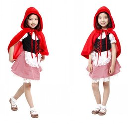 christmas movie characters costumes Canada - Halloween cosplay costume children play dress up little red riding hood character costumes dress
