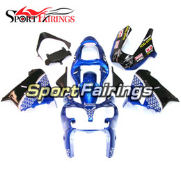 ninja motorcycle frame NZ - White Blue Fairings For Kawasaki ZX9R 2000-2001 00-01 ABS Plastic Motorcycle Bodywork Body Kit Cowlings Body Kit Body Fittings Frames