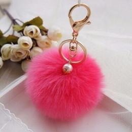 Best Men Hair Australia - Fashion Chaveiro Keychain Fur Pom Pom Key Chain Faux Rabbit Hair Bulb Bag Car Ornaments Fur Ball Pendant Best Gifts MOQ 30 pcs