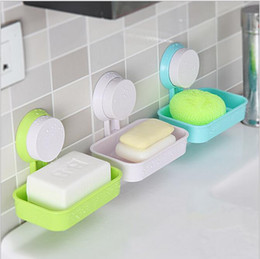 Wholesale new bathroom accessories korean fashion flexible sucker soap dish soap box soap holder with suction cup cloth sponge storage plate