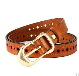 Leather Belt Decorations Canada - Women's leather belt buckle simple wild Korean fine decoration Korean casual leather belt tide jeans belt