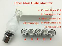 $enCountryForm.capitalKeyWord Australia - Full Glass Sytle Glass Globe Atomizer Dry Herb and wax Vaporizer bulb glass atomizer for EVOD battery 510 thread battery
