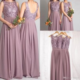 Discount Dusty Rose Bridesmaid Dresses | 2017 Dusty Rose Chiffon ...