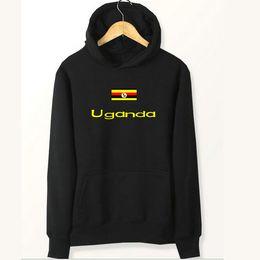 Hoodies Sweat Shirts Australia - Uganda flag hoodies Country young people sweat shirts Fleece clothing Pullover coat Outdoor cotton jacket Brushed sweatshirts