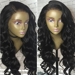 Full brazilian ponytail lace wigs online shopping - Glueless Body Wave Lace Wig Natural Hairline and High Ponytail Brazilian Virgin Lace Frontal Human Hair Wigs for Women
