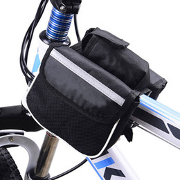 Accessories Water Bag NZ - Bicycle Bike Top Frame Front Pannier Tube Bag Cycling Double Pouch Holder With Water Bottle Bag Mountain Bike Accessories