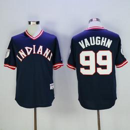 ... 1976 Retro Cheap Cleveland Indians Jerseys 99 Ricky Vaughn Jerseys Blue  Throwback Stitched Baseball Jerseys Embroidery Mens ... 7d8dd5b05