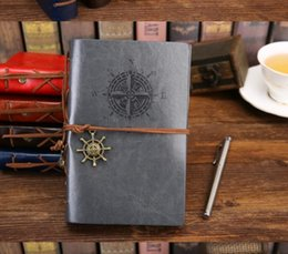 $enCountryForm.capitalKeyWord NZ - A6 sizes vintage PU leather pirate travel diary book retro spiral notebook notepad stationery office school supplies kraft paper notebooks