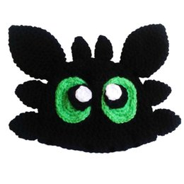 $enCountryForm.capitalKeyWord UK - Novelty Toothless Hat,Handmade Knit Crochet Baby Boy Girl Dragon Costume,Kids Cartoon Anime Hat,Halloween Costume,Infant Toddler Photo Prop