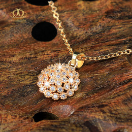 gold micro pendant Canada - 3 layers 18K yellow gold plated attractive style micro pave crystal CZ pendant necklace