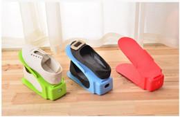 $enCountryForm.capitalKeyWord NZ - 5Pieces lot Colorful one-piece shoe rack Creative plastic shoe rack Vertical receive shoe shelf Household supplies