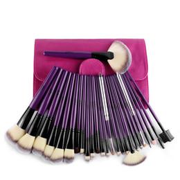 Professional hair design online shopping - Msq Luxury Purple Design Professional Cosmetic Brush Kit Makeup Brushes Set Case Make Up Brush Kits Face Care Tool