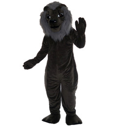 $enCountryForm.capitalKeyWord UK - Grey lion Mascot cartoon Halloween dress Custom clothing High quality Carnival costumes011