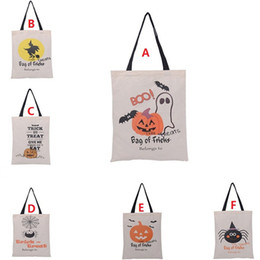 $enCountryForm.capitalKeyWord Canada - 2016 Hot Sale Halloween Gift Bags Large Cotton Canvas Hand Bags Pumpkin,Devil,Spider Printed Halloween Candy Gift Bags Gift Sack Bags F705