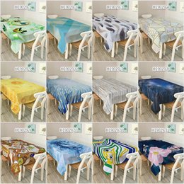 Big Size Rectangular Dinner Table Cloth Polyester Printed Coffee Table Book  Desk Cover Tablecloths Excellent Home Decoration
