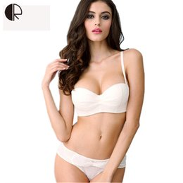 c838ac4f60 New Women Sexy WhiteLace Wedding Dress Bra Sets Sexy Push Up Lingerie Half  Vup Bra Invisible Bra Underwear Set