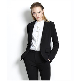$enCountryForm.capitalKeyWord NZ - Black Womens Business Suits Office Uniform Designs Women Trouser Suit Slim Fit Formal Pant Suits For Weddings Tuxedo Custom