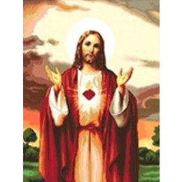 Fashion Europe Painting Canada - HWF-219 Diy Diamond Painting home decor Cross Stitch Embroidery Pasted Painting Jesus Christ 2016 Fashion poster 30X40CM