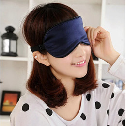 Discount sleep mask snoring Silk Eyeshade Soft Eye Mask Sleeping Aid Shade Cover 22.5*11Cm Travel Relax Blindfold NEW Sleep & Snoring