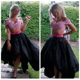 Discount Prom Black High Low Lace Skirt | 2017 Prom Black High Low ...