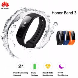 "pet monitoring camera 2018 - Smart Wristband Honor Band 3 Smart Watch Swimmable 5ATM 0.91"" OLED Screen Touchpad Heart Rate Monitor Free Shipping"